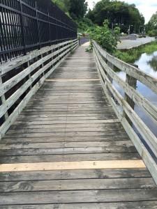 Pedestrian Bridge Across the Creek